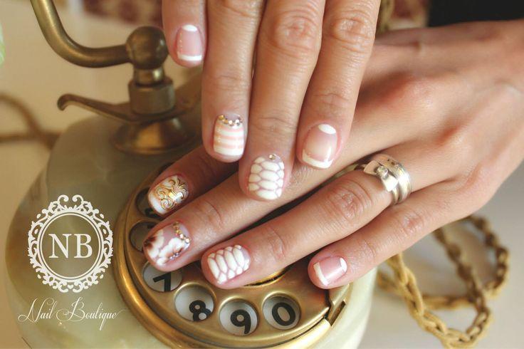 Snake print nails. Hand made