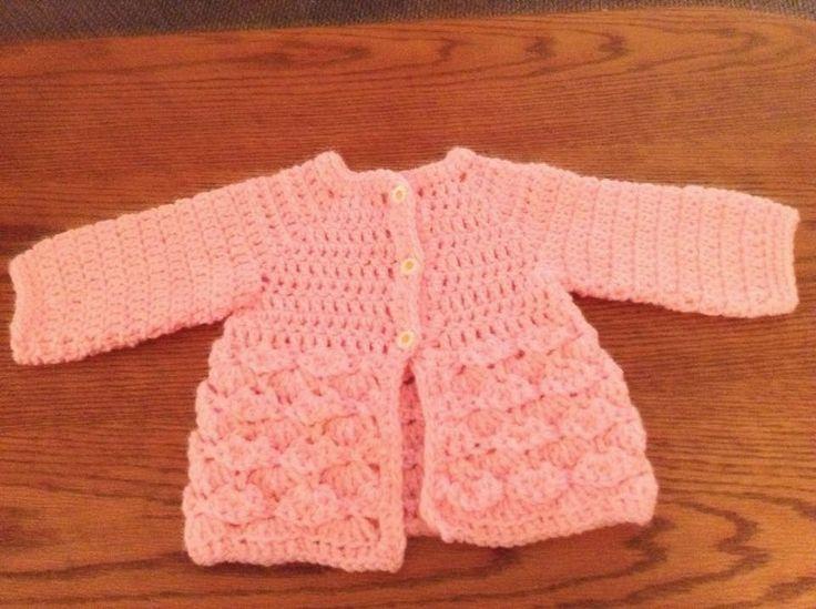 #Free pattern. Sharon's Crafty Crossing: Beautiful #Crocheted Baby Girl Jacket