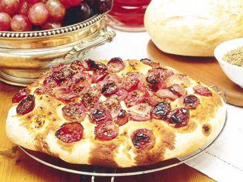 Schiacciata (pan de uva y anís)