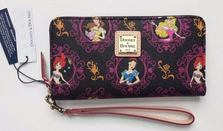 "NWT Dooney & Bourke 2017 Run Disney Princess Marathon Wallet Zip ""B"" SOLD OUT  | eBay"