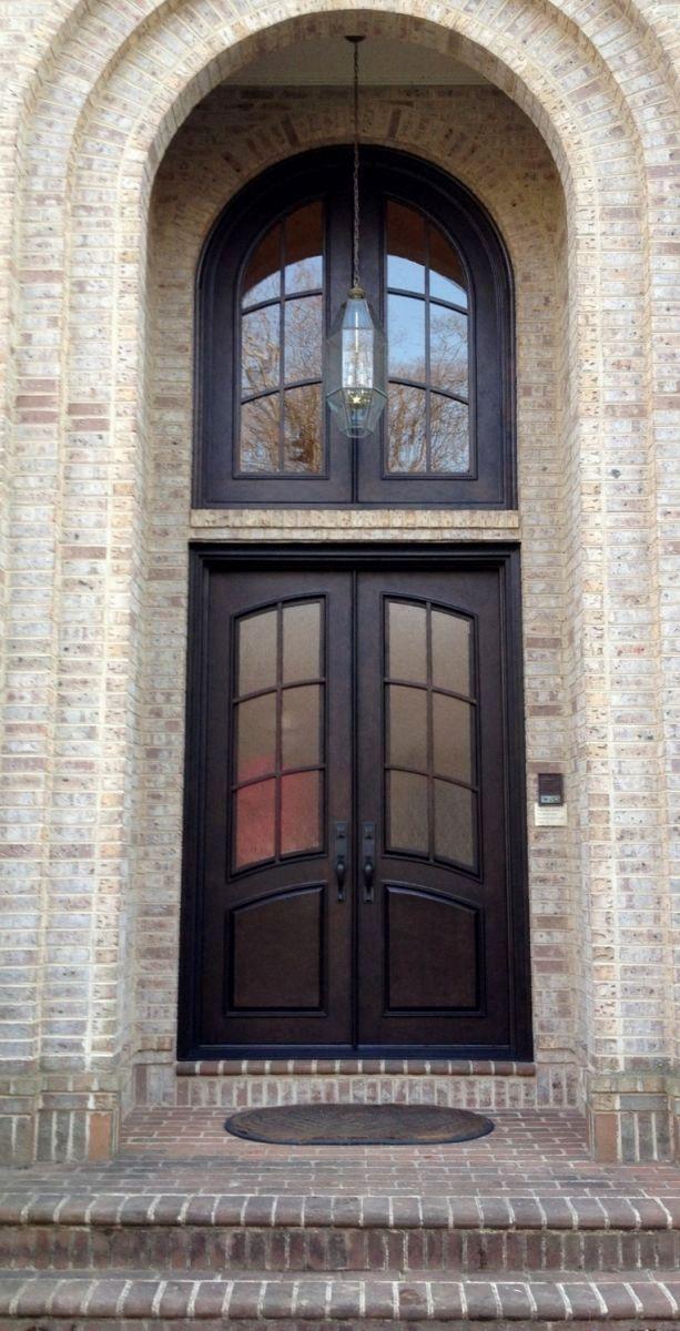 Double Iron And Transom Clark Hall Iron Doors Charlotte Nc