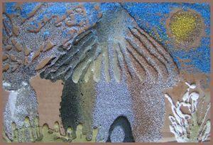 peindre avec du sable