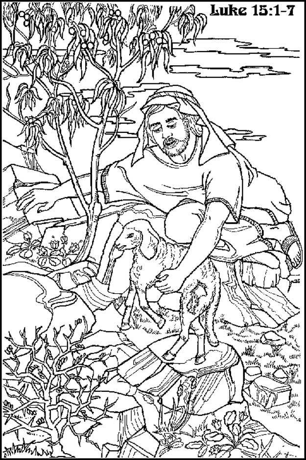 kleurplaat de goede herder zeer tekst jezus is de