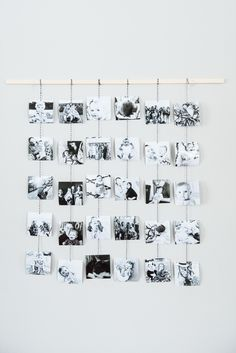 DIY Family Photo Wall Hanging   Homemade ornaments, Christmas DIY ideas, homemade gifts and more from @cydconverse