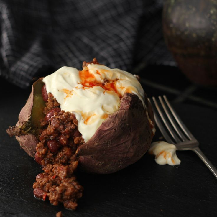 Baked Sweet Potato & Chilli