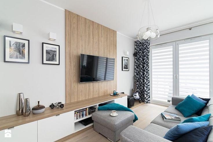 MIESZKANIE 72m2 - Salon, styl minimalistyczny - zdjęcie od KRAMKOWSKA   PRACOWNIA WNĘTRZ