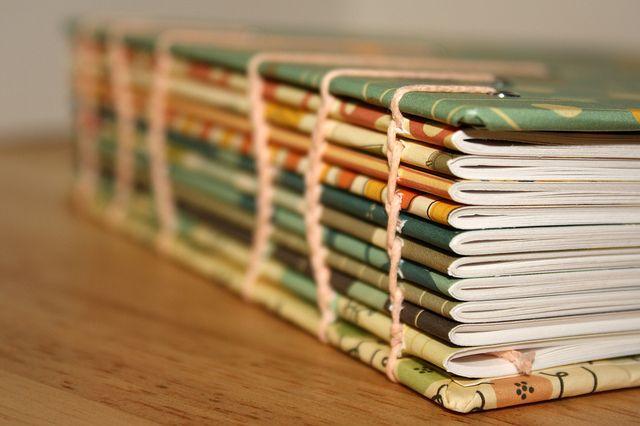 Coptic Bound Book Photo Tutorial by Kate Elliott - #bookbinding