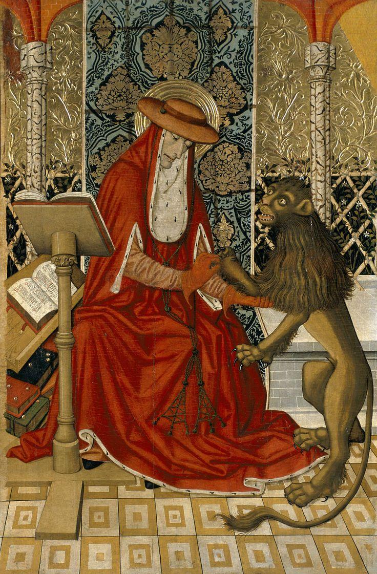 Saint Jerome / San Jerónimo // ca.1473-1482 // Pedro García de Benabarre // © Museu Nacional d'Art de Catalunya