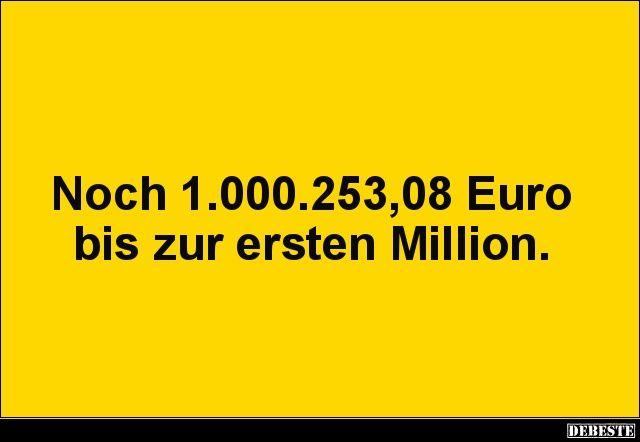 Noch 1.000.253,08 Euro bis zur ersten Million. | L…