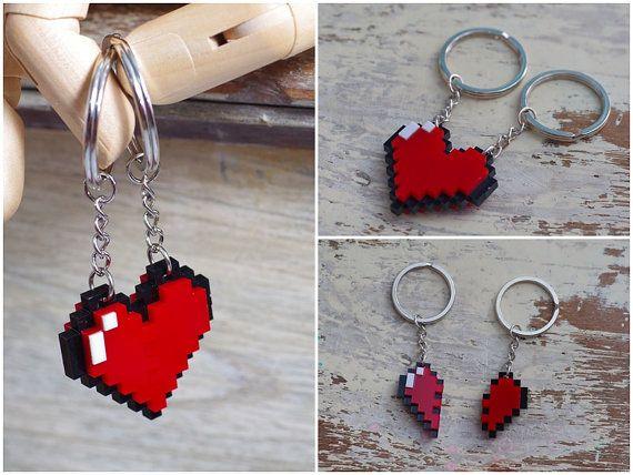 Pixel Heart Zelda Acrylic Plastic Keychain for by Nastalgame