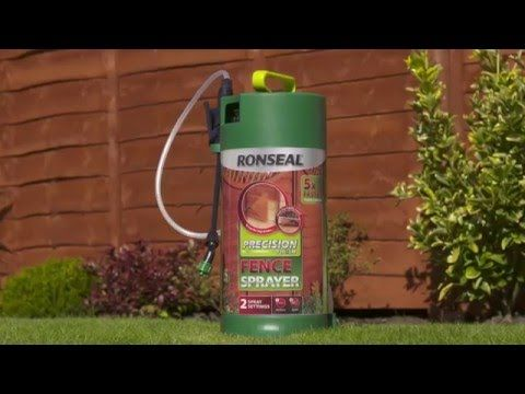 How to quickly spray your fence