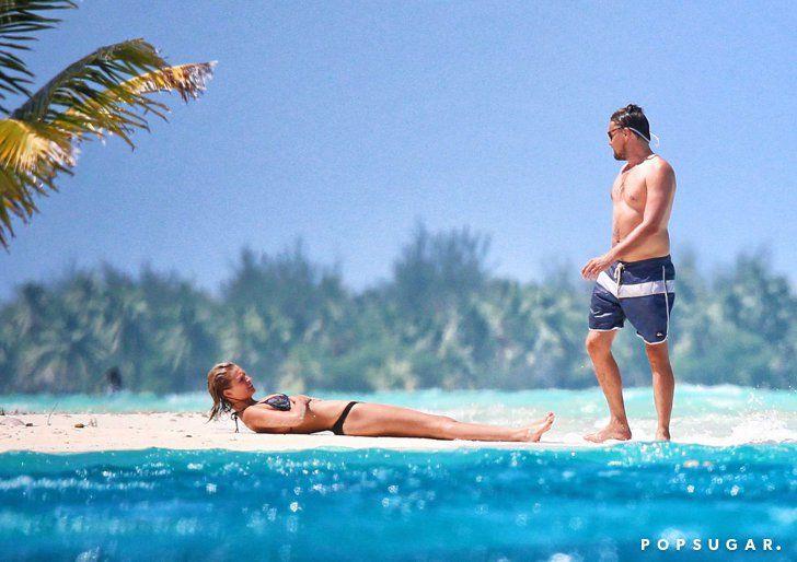 Pin for Later: Shirtless Leonardo DiCaprio Shows Toni Garrn Love in Bora Bora