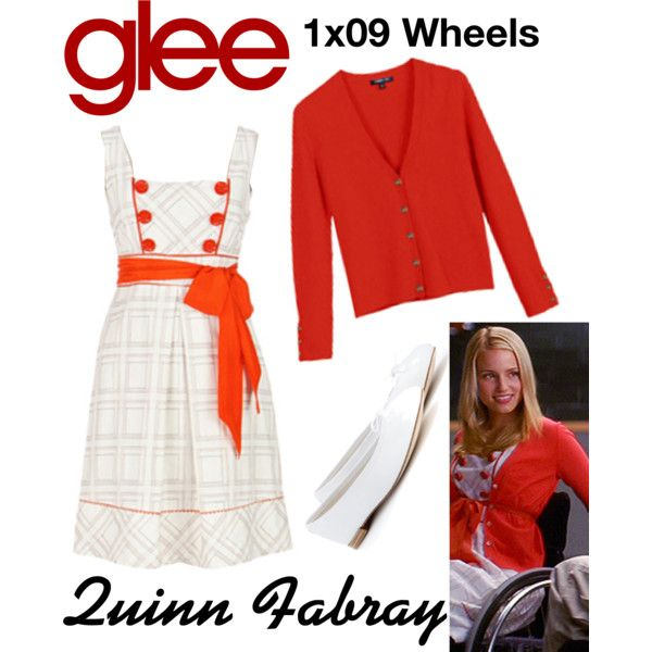 Quinn Fabray (Glee) : 1x09 by aure26 on Polyvore featuring polyvore, fashion, style, Repetto, clothing and glee