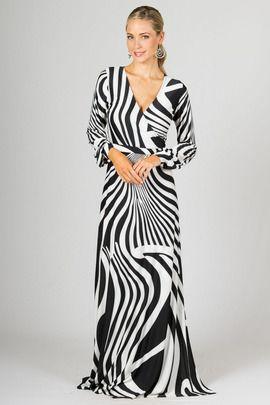 Catalina Maxi Dress - Black Zebra by Paper Scissors Frock