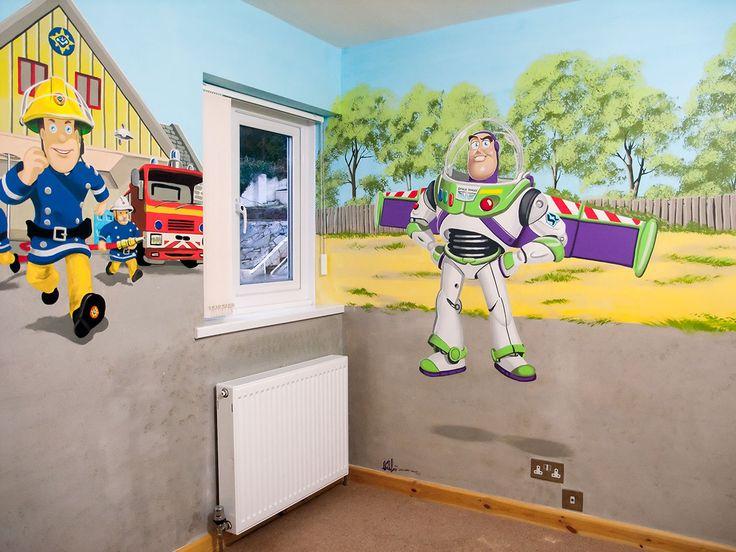 Boyu0027s Room Mural Corner. Fireman Sam ToysToy StoryBoy ... Part 59