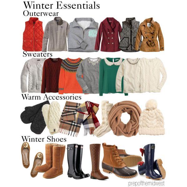 Winter Essentials preppy style,