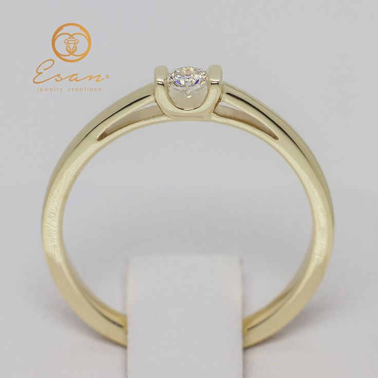 Inel de logodna din aur cu diamant ES47
