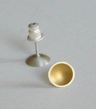Golden Cup Earrings by SenayAkin on Etsy