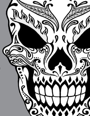 Day Of The Dead Skull Clipart Our Second Hand Drawn Day