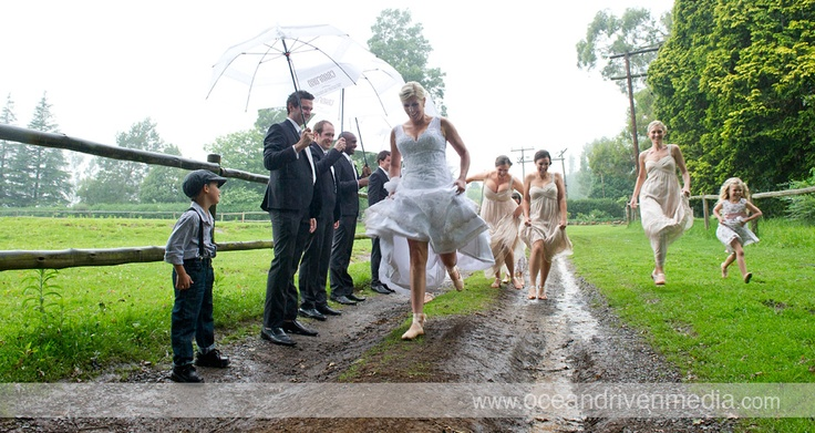 Wedding at Cranford Country Lodge in the pouring rain