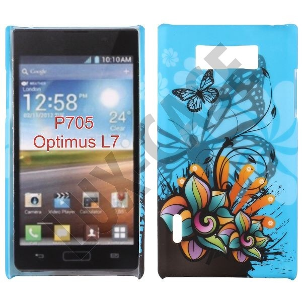 Valentine (Blue Butterfly) LG Optimus L7 Cover