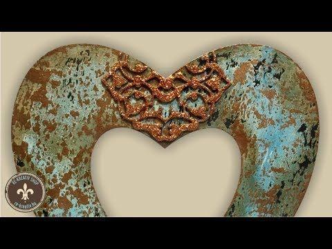 Rusztikus szív karton alapon, egyrétegű