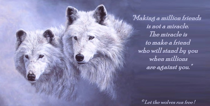 Fantasy Wallpaper Little Girl Miracle Friend Wolf Quotes Lone Wolf Quotes Wolf Qoutes