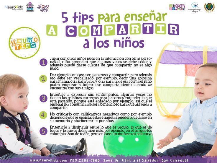 Tips para enseñarle a nuestros niños a compartir! #NeuroTip