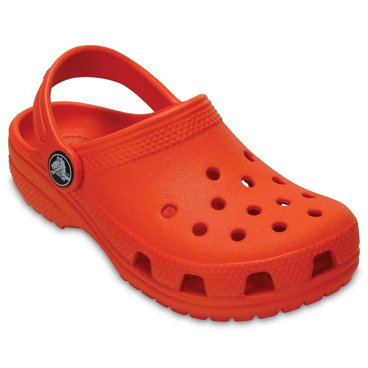 Crocs Classic Kid's Clogs, Kids Unisex, Size: 7 T, Med Orange
