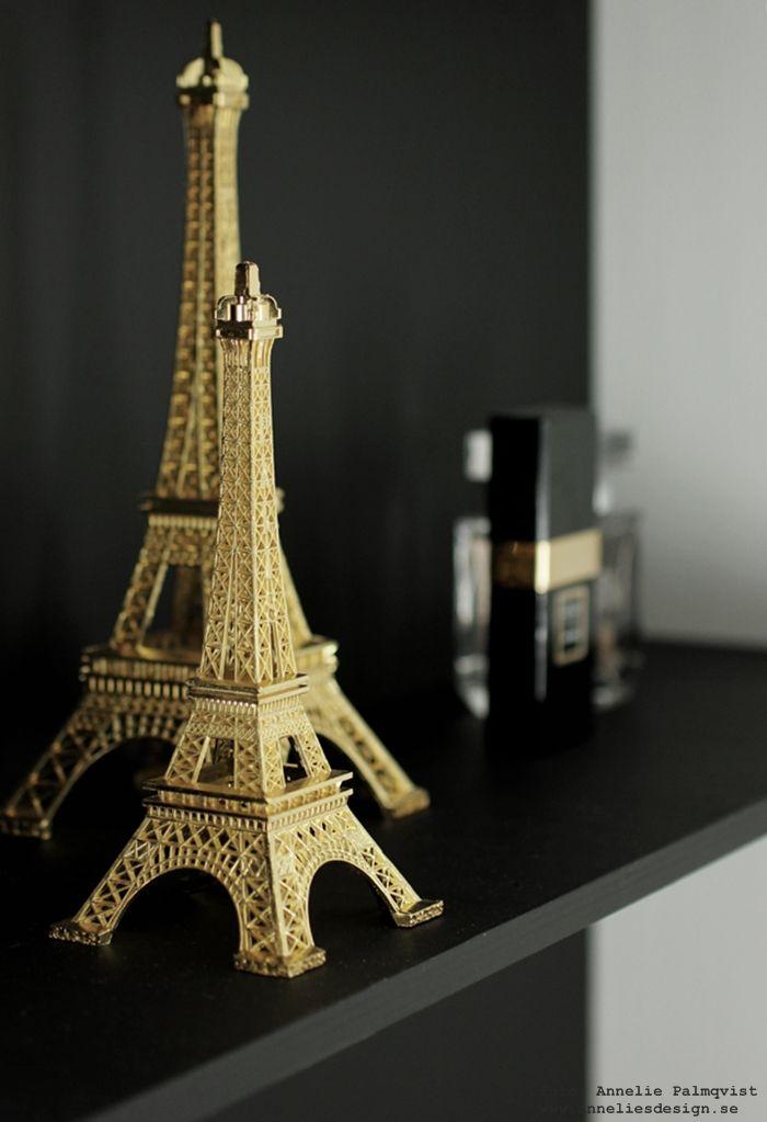 Eiffeltorn prydnad i guld: www.anneliesdesign.se