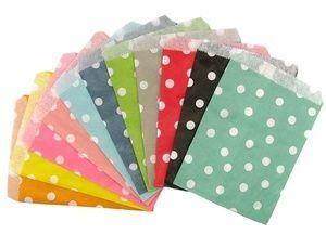 Polka Dot Paper Party Bags via Rabbit & Duck