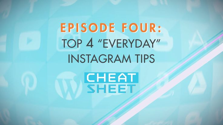 Cheat Sheet Episode 4: The one where we Cheat Instagram! From quick uploads to linking Instagram to your favorite social media sites, we take a look at the Every Day ins and outs of the Internet's favorite photo sharing website.