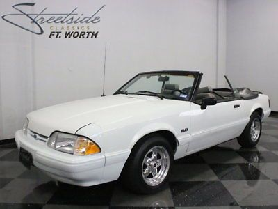 eBay: 1991 Ford Mustang LX Convertible 2-Door GREAT FOX BODY 'VERT W/ 1600 MILES ON REBUILT/MODIFIED 5.0; AOD TRANS,… #fordmustang #ford