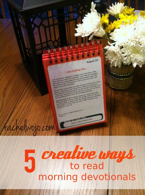 5 creative ways to read morning devotionals. I'm super excited about this new way to be consistent in devotion time!