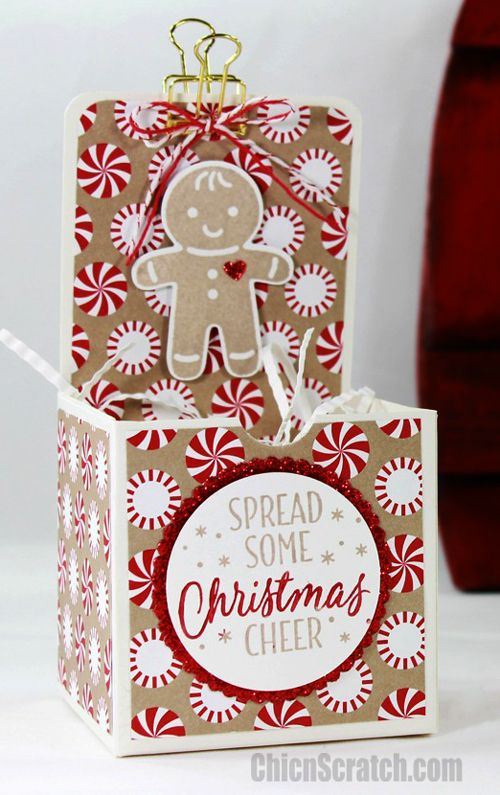Christmas Gift Box with Chic n Scratch, Stampin' Up! Demonstrator Angie Juda
