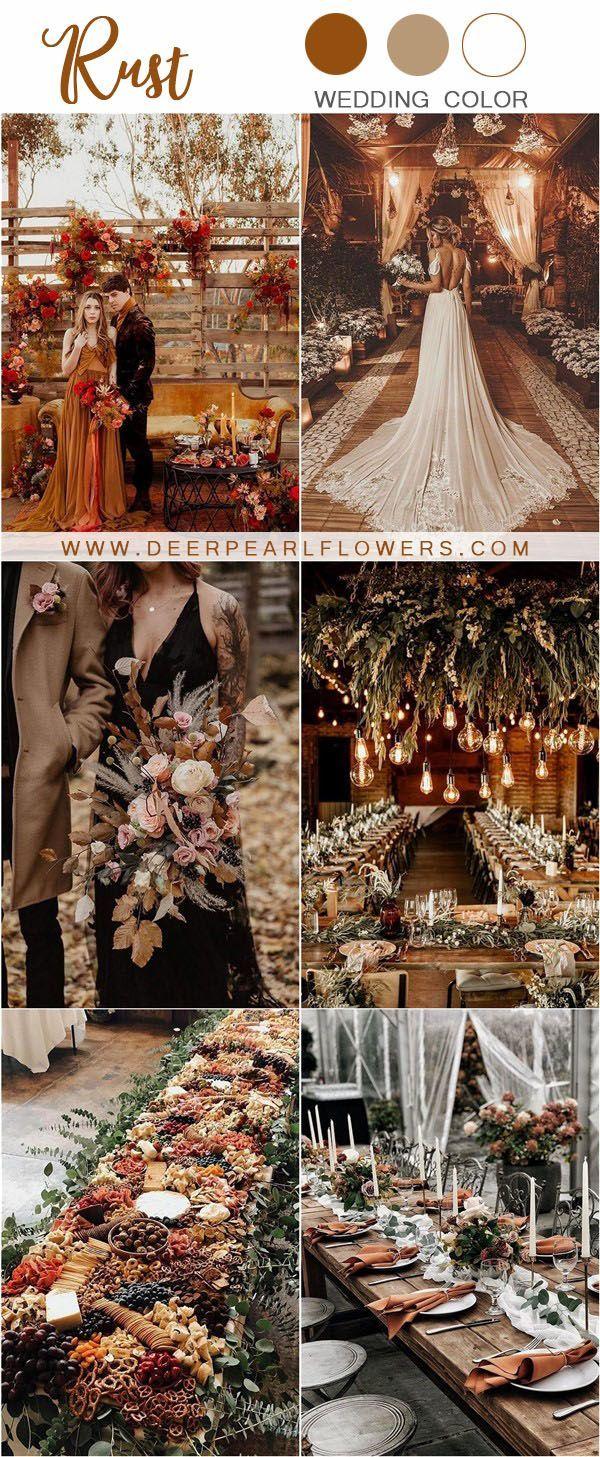 24 Rustic Rust Wedding Color Ideas