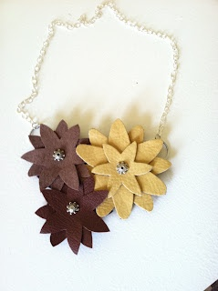 Love On Lake Shore Drive: DIY Leather Flower Necklace