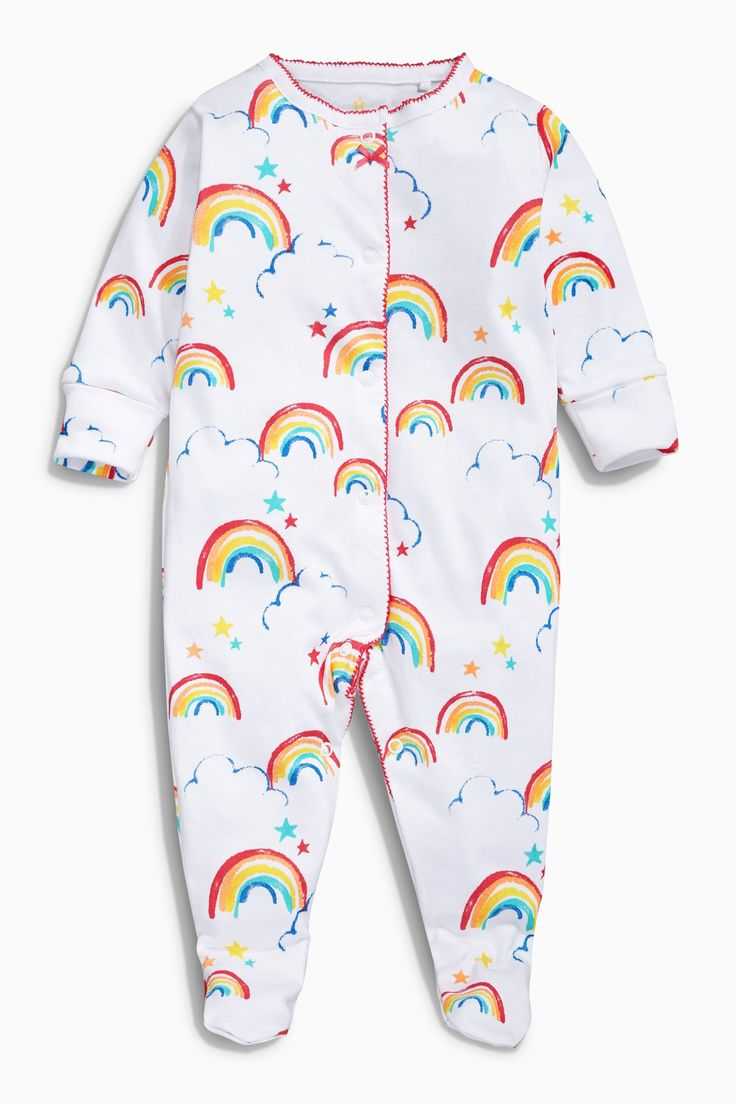 Buy White Rainbow Sleepsuits Three Pack (0mths-2yrs) online today at Next: Japan