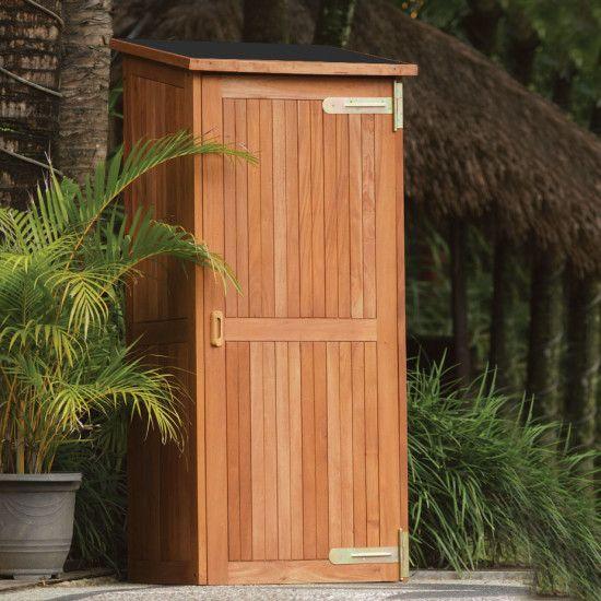 Tuinkast hardhout Santiago 80x65x185cm