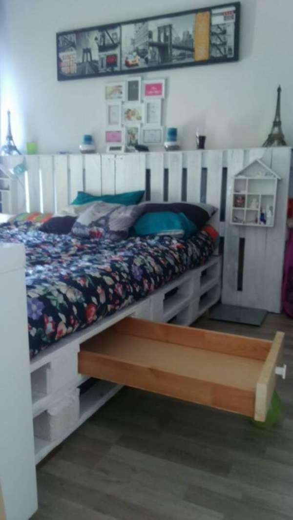 les 25 meilleures id es concernant lit avec rangement sur pinterest stockage lit lit. Black Bedroom Furniture Sets. Home Design Ideas