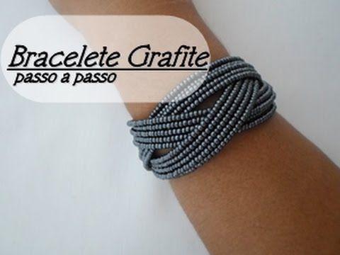 NM Bijoux - Bracelete grafite - passo a passo - YouTube