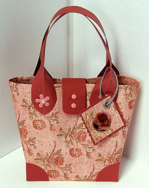 Cute paper purse. See make my own.