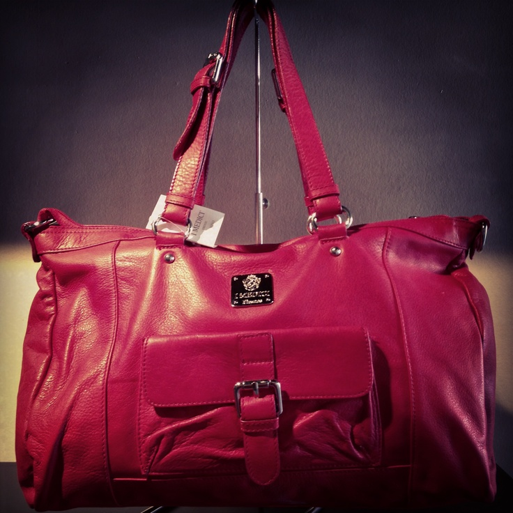 Fashionably red by I Medici! #vancouverfashion #IMedici #vancouverstyle #genuineitalianleather #styleovertrends
