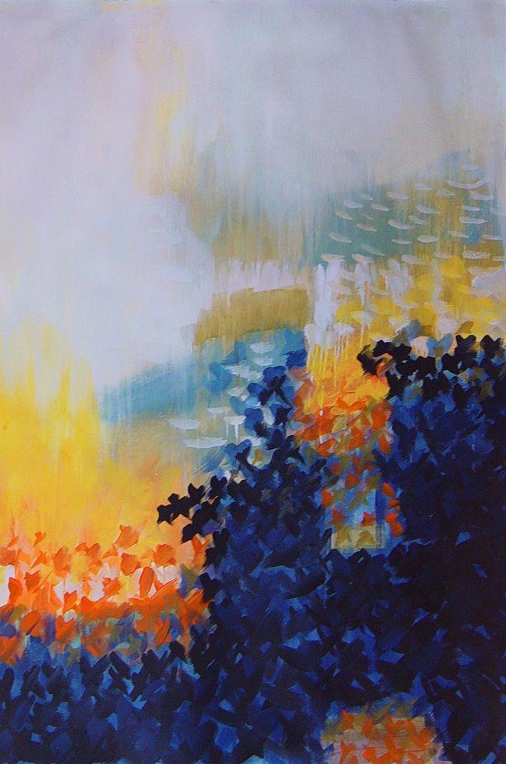 """Stars Gazing"" by Bianka Guna 2011 Series Acrylic On paper 48"" x 36"""