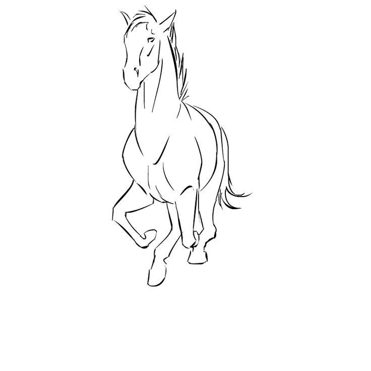 Картинки лошади рисовать гифы
