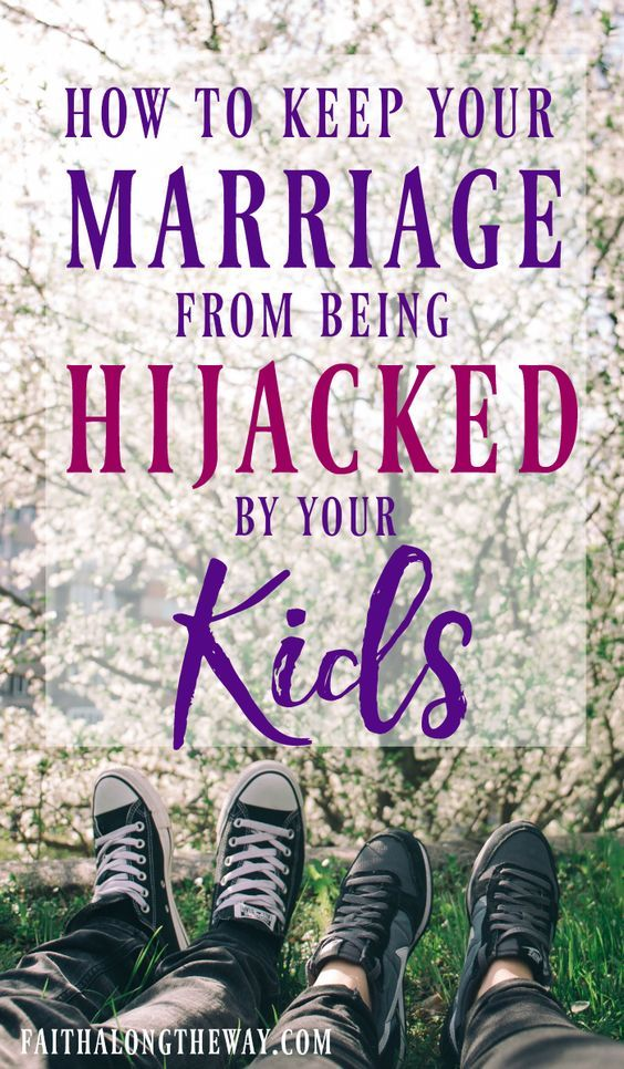 Don't let your kids barge into your marriage and hijack your relationship! Here's practical ways to connect with your spouse even with small kids in the house.