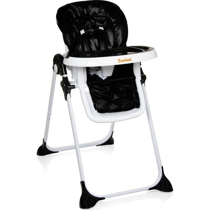 Adjustable Baby High Chair Infant Seat Child Toddler Comfortable Black Folding #AdjustableBabyHighChair