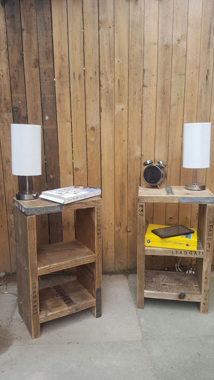 Scaffold bedside tables