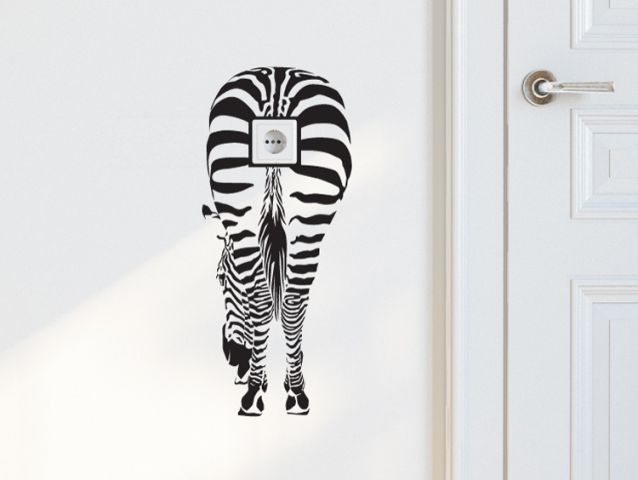 humor zebra switch sticker