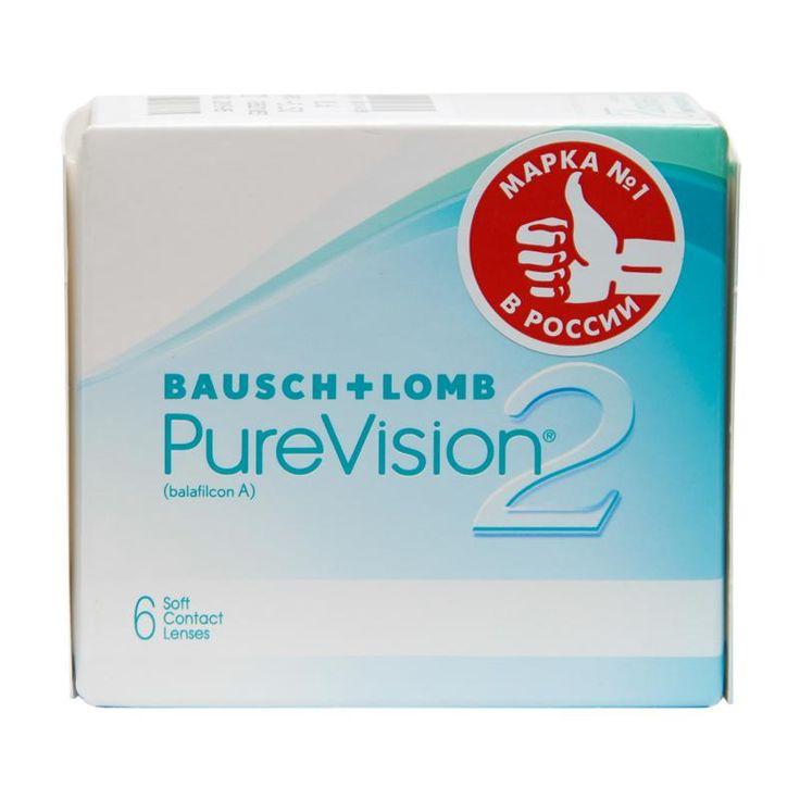 Контактные линзы Bausch+Lomb Pure Vision 2, 6 шт, R: 8.6, D: -5.5